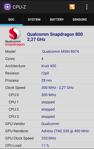 Раздел SOC в приложении CPU-Z