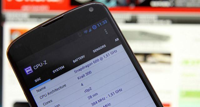 Приложение CPU-Z на Android
