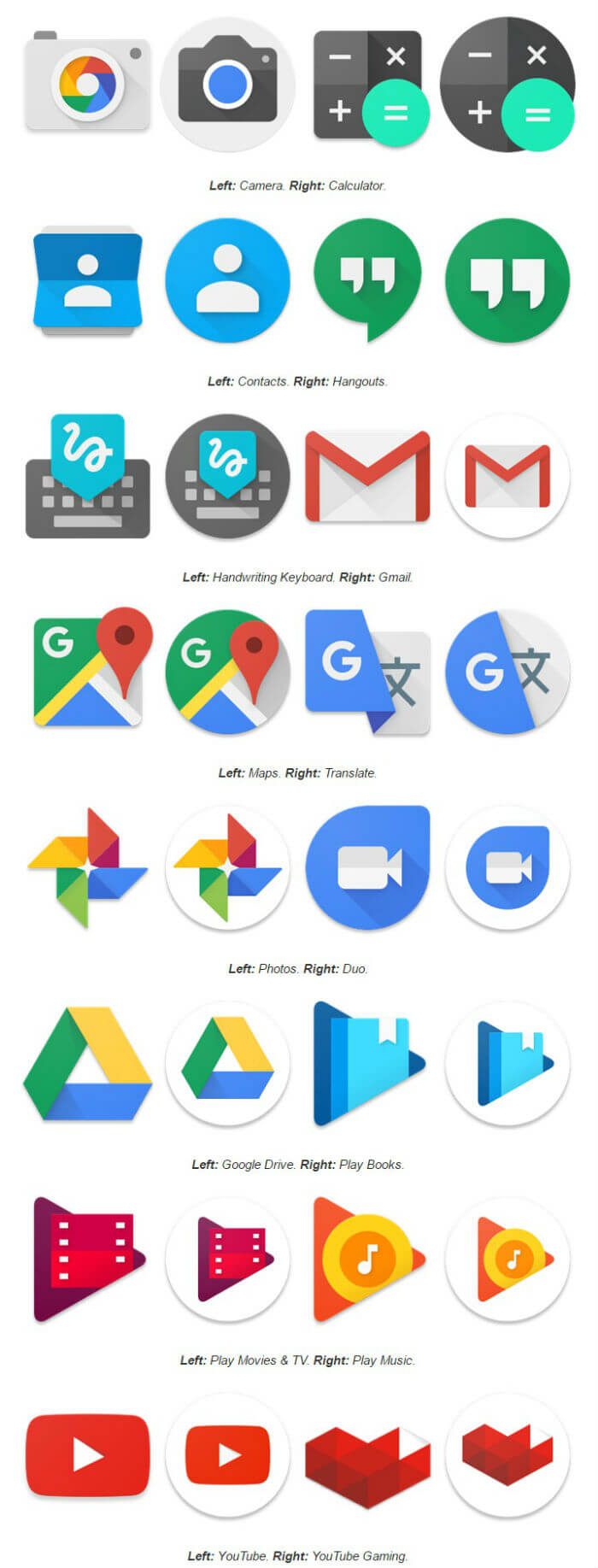 Новые иконки приложений