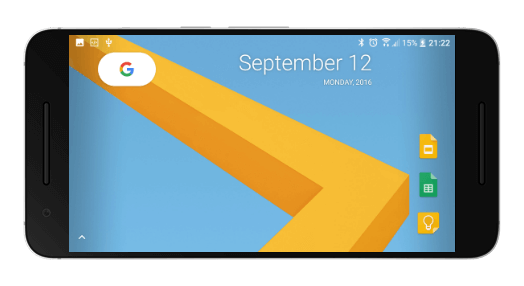 pixel launcher горизонтальная ореинтация