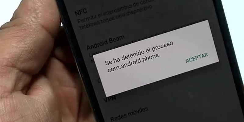 com android phone произошла ошибка