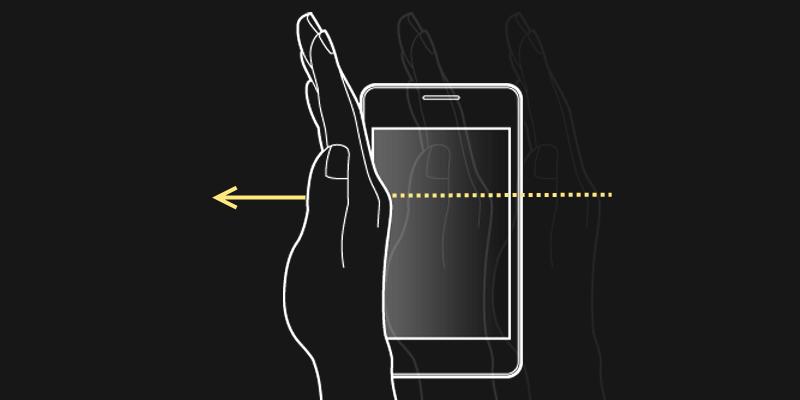 как сделать снимок экрана ладонью на самсунге
